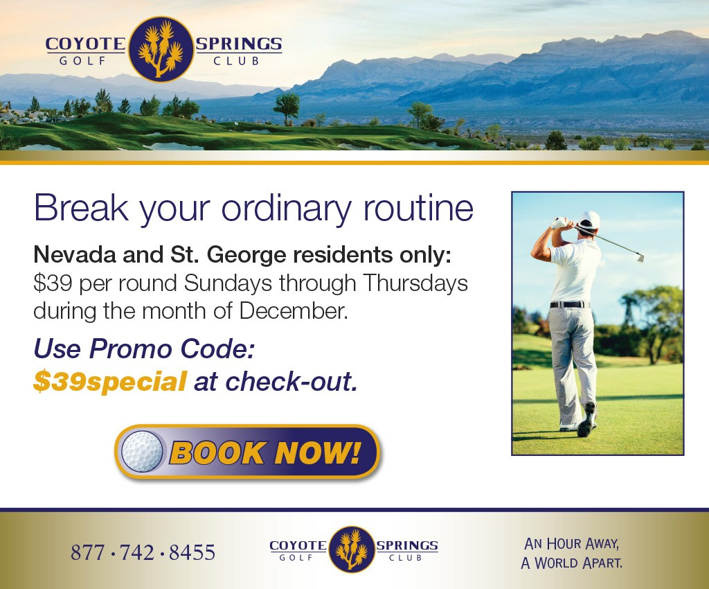 Coyote Springs Golf Club A Jack Nicklaus Signature Golf Course in Coyote Springs Nevada providing a premier golf experience to Henderson, Mesquite and Las Vegas Break your routine
